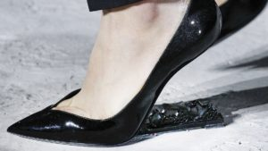 Saint Laurent no heel shoe