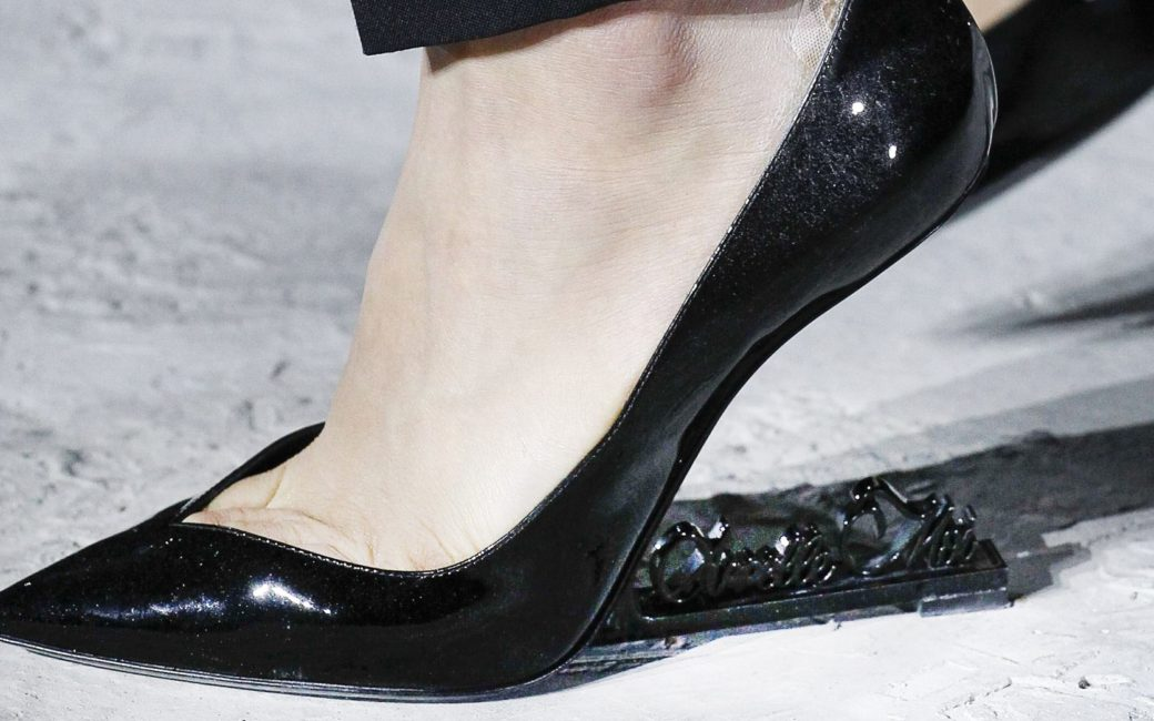 Saint Laurent no heel shoe